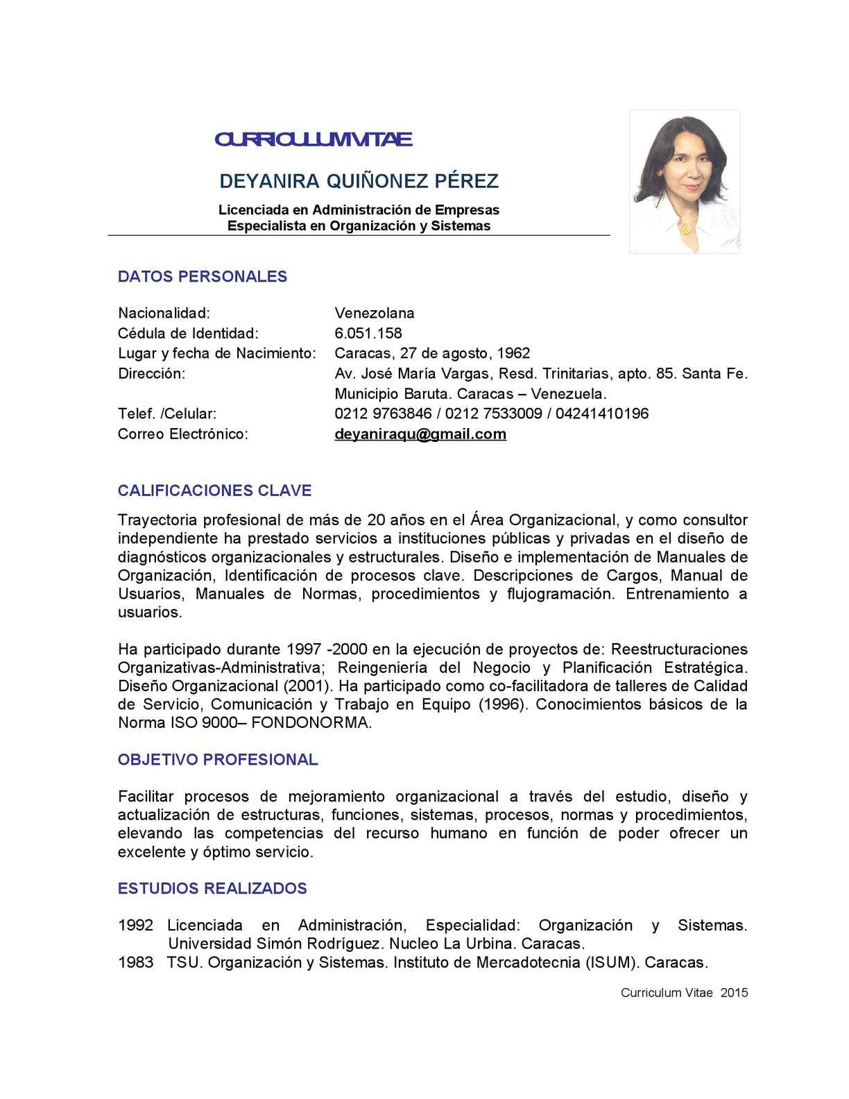 Calaméo - Curriculum Vitae 2015 Dq
