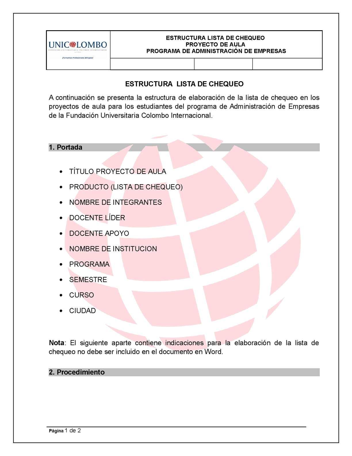 Calaméo - GUIA LISTA DE CHEQUEO AE