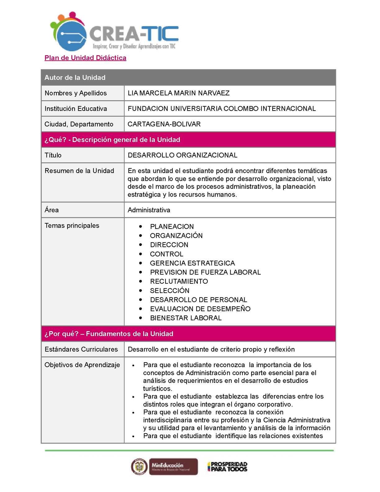 Calaméo - Plantilla Unidad Didactica