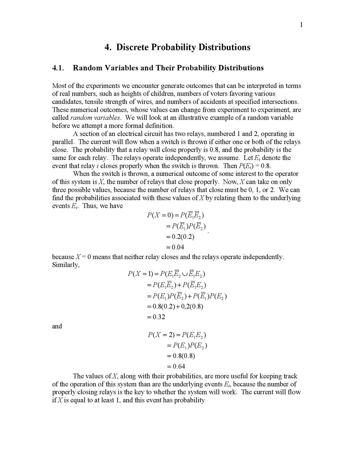 an analysis of random variables in different experiments Random variables were developed for the analysis of  equivalence of random variables there are several different senses in  design of experiments.