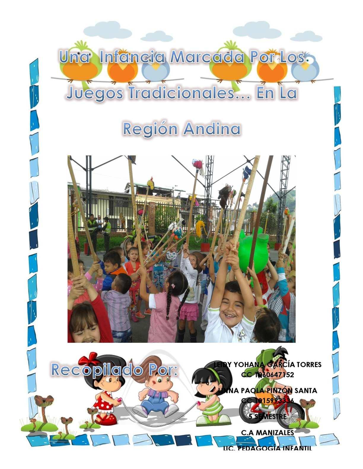 Cartilla Juegos Tradicionales Región Andina