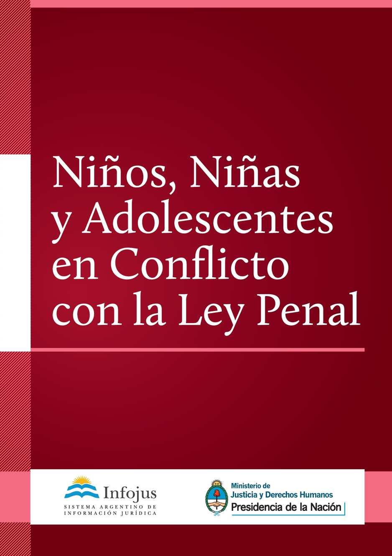 Calaméo - Ninos Ninas Adolescentes Conflicto Ley Penal