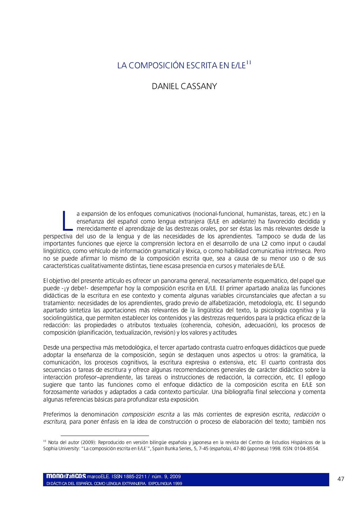 Calaméo - Composicion Escrita Daniel Cassany