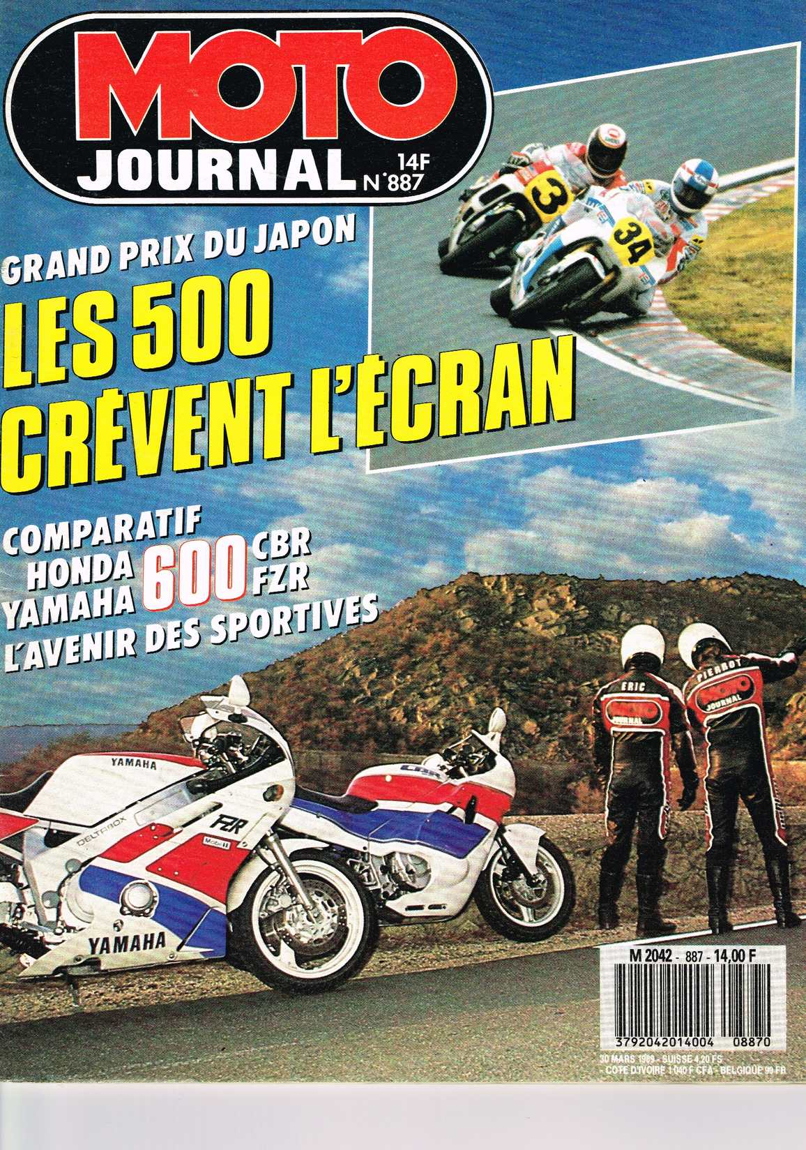 Moto Journal N°887 30 Mars 1989