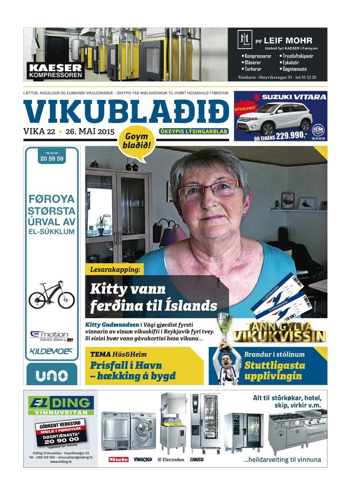 Vikublaðið 26. mai. 2015