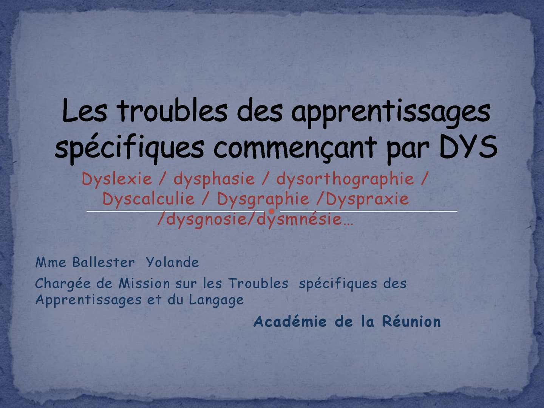 204 Dyslexie et dyscalculie