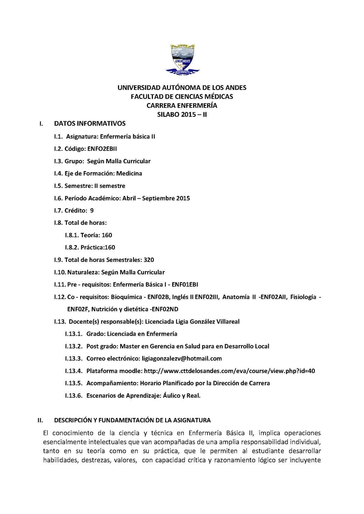 Calaméo - Silabo Inicial Y Complemento Final Y Sus Complementos Enf ...