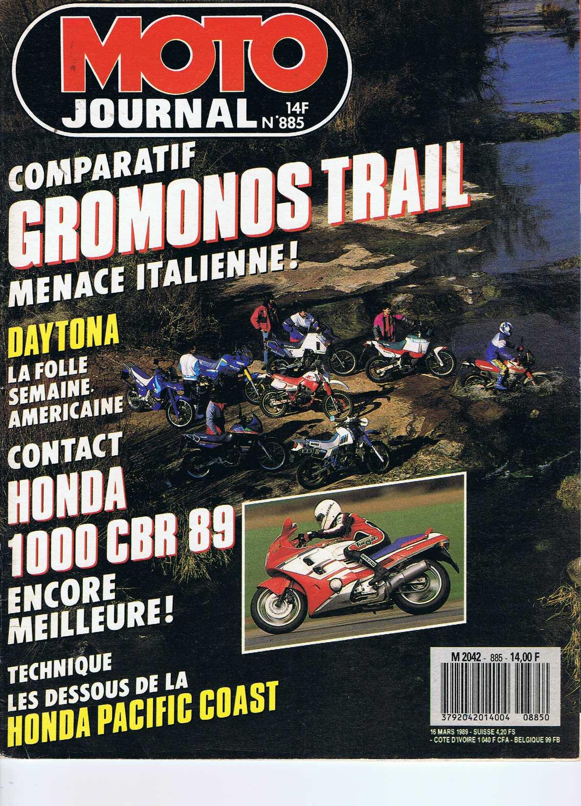 Moto Journal N°885 16 Mars 1989