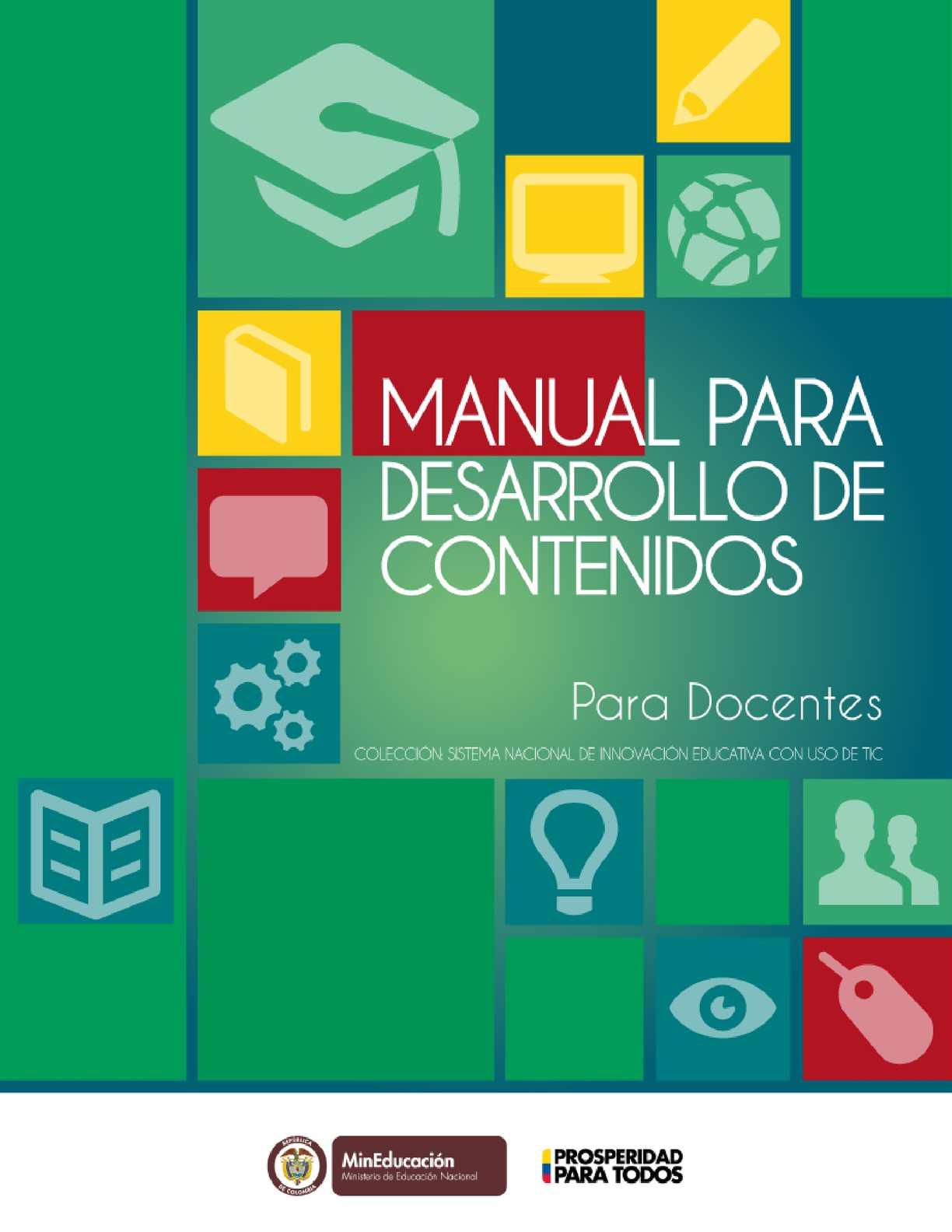 Calaméo - Manual Para Desarrollo De Contenidos Para Docentes
