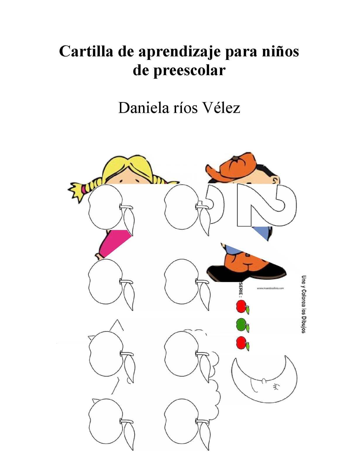Cartilla De Aprendizaje Para Niños De Preescolar