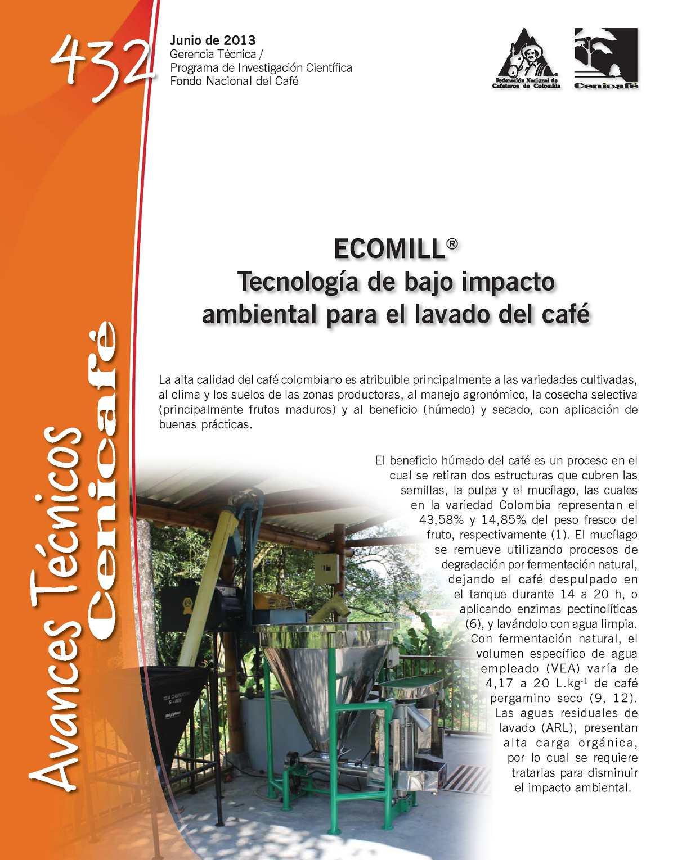 Cenicafe Avance Técnico 432 Ecomill