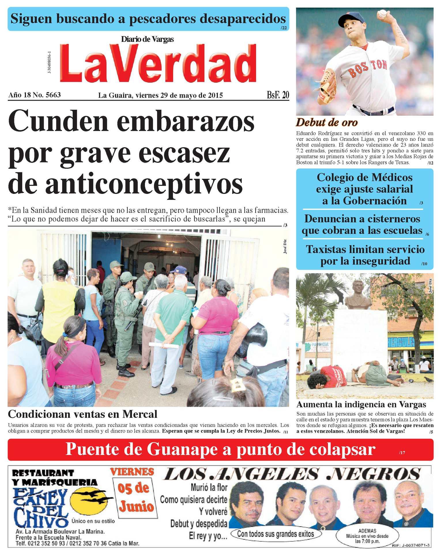 Calaméo - La Guaira, viernes 29 de mayo de 2015 Año 18 No. 5663