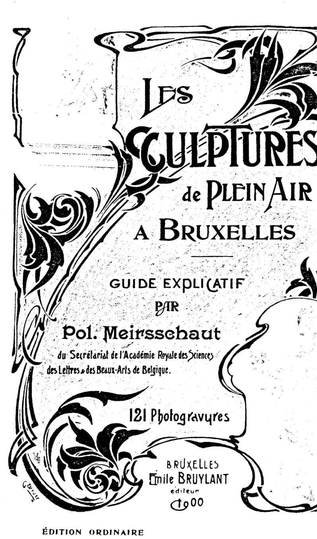 Sculpture De Plaine Air Bruxelles 1900