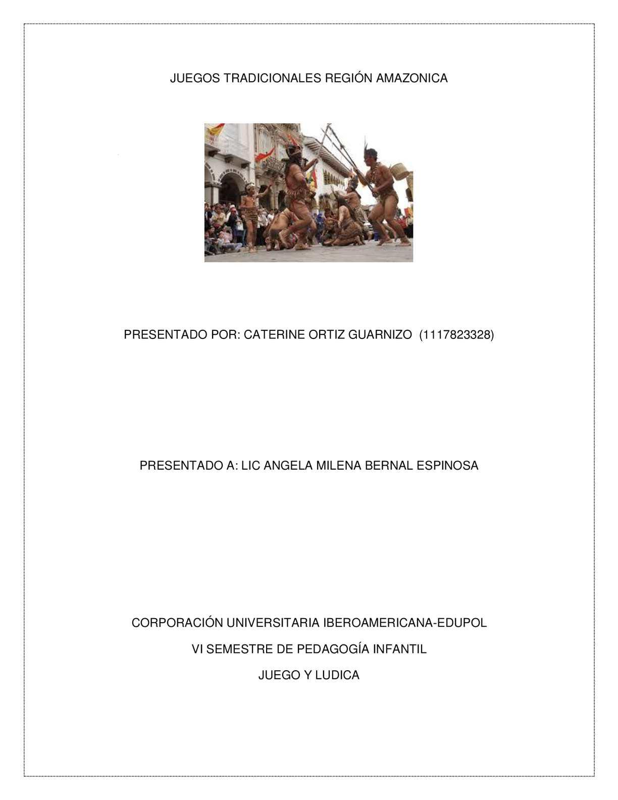 Juegos Tradicionales Región Amazonica