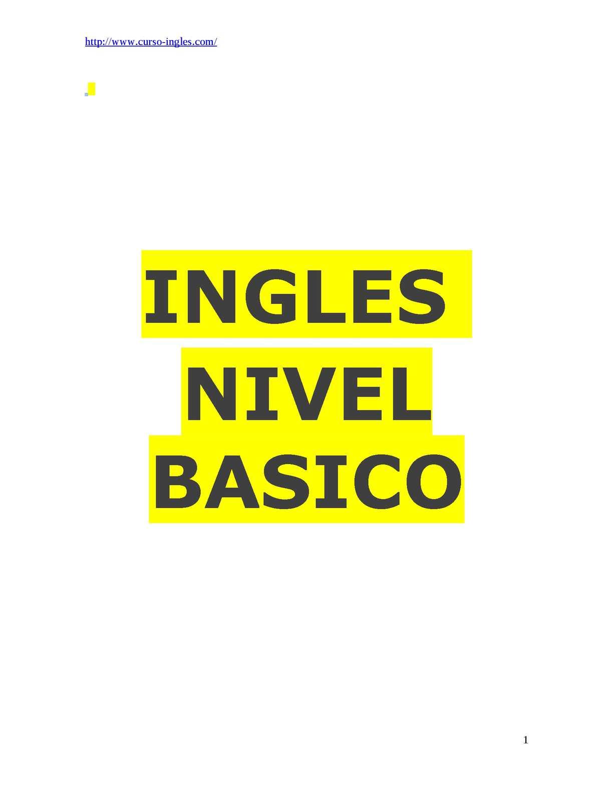 Calaméo - Inglés Nivel Básico