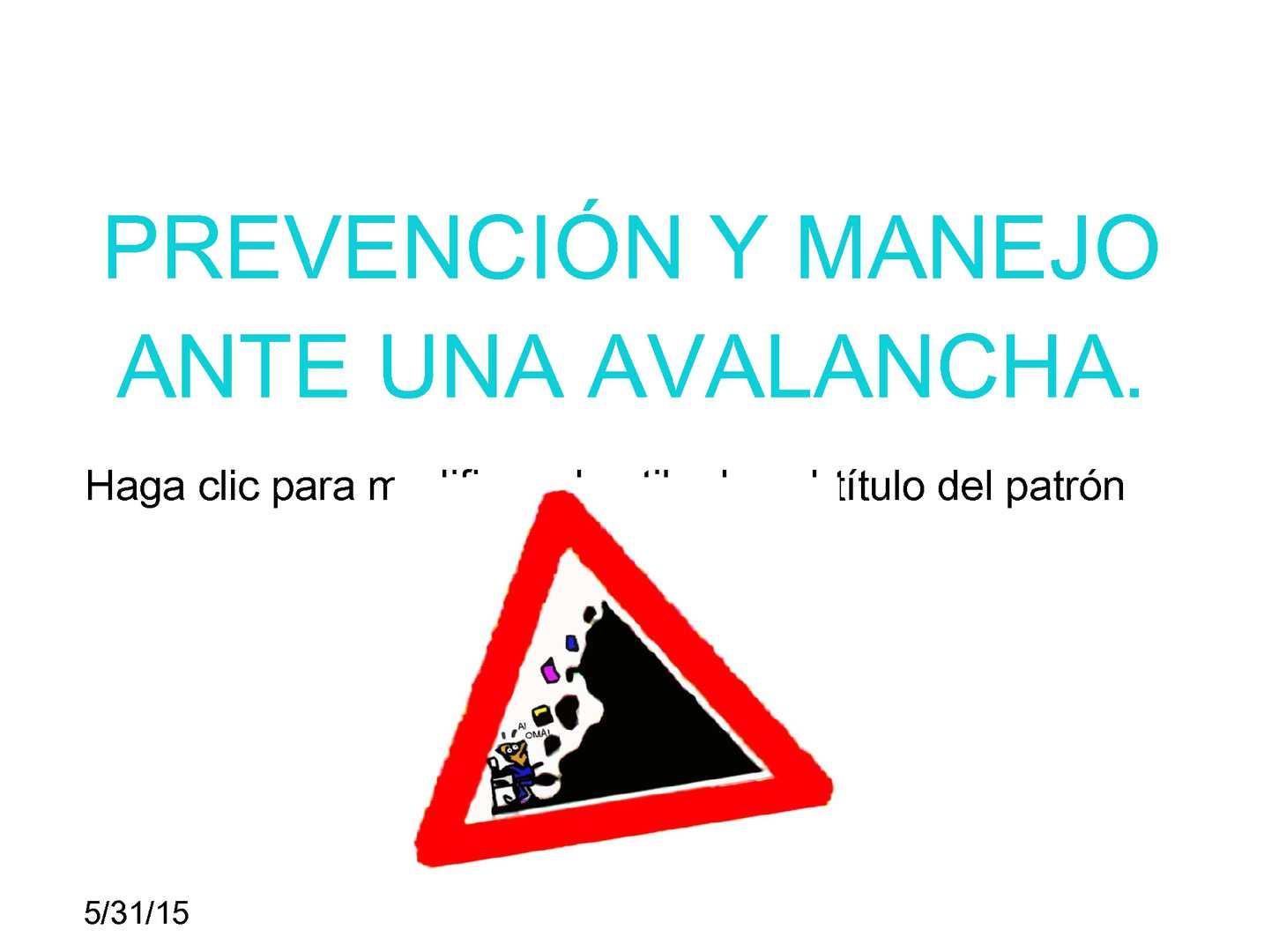 Calaméo - Prevención Y Manejo Ante Una Avalancha