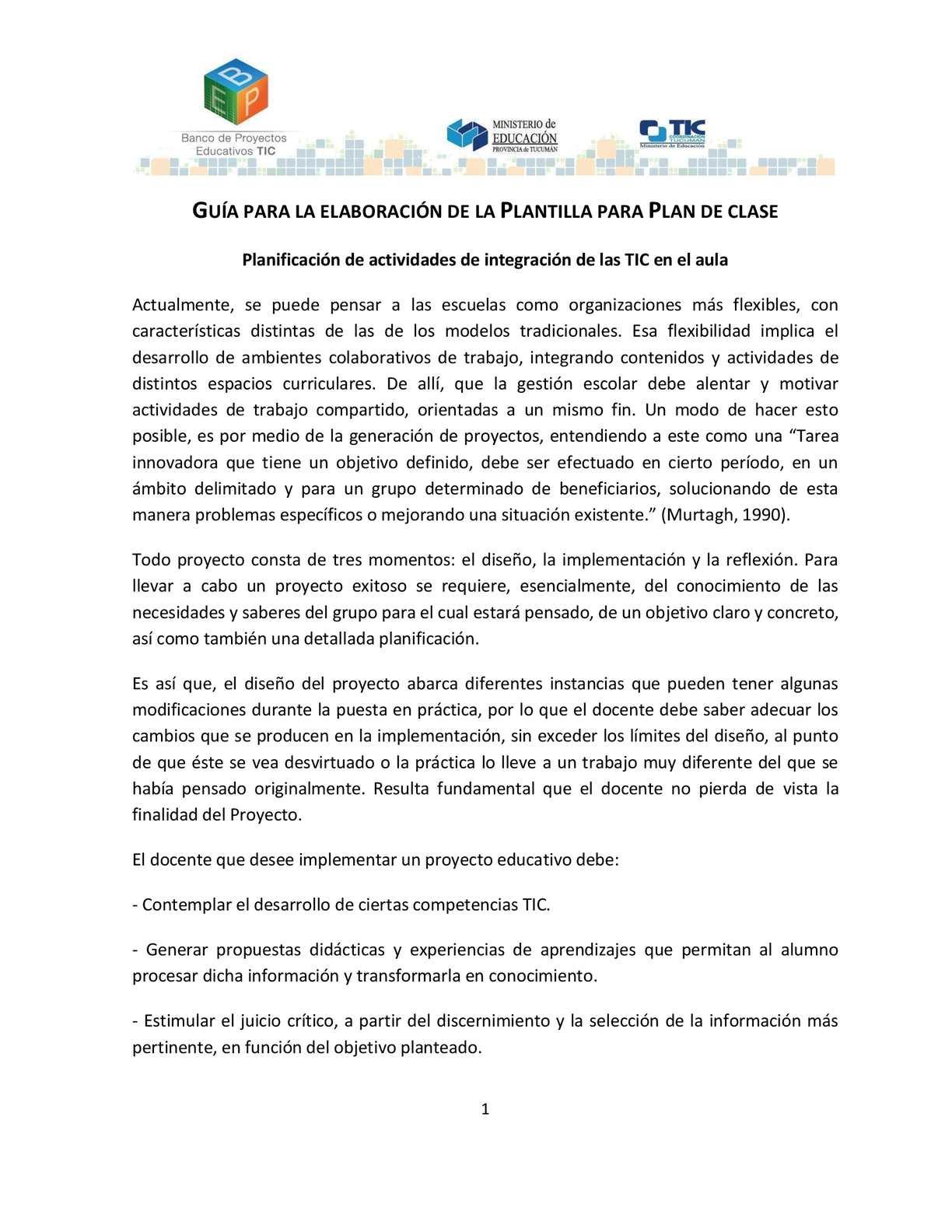 Calaméo - Guía Para La Elaboración De Plantilla Para Plan De Clase ...
