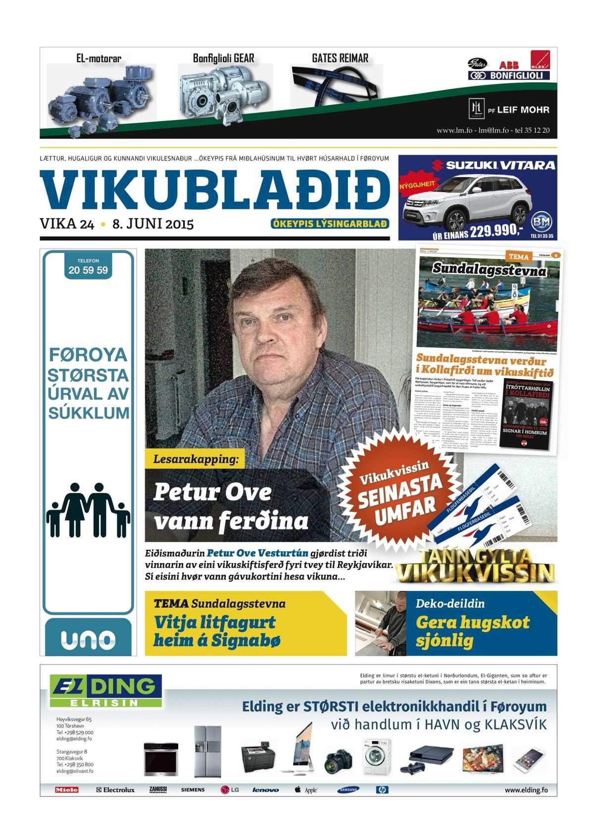 Vikublaðið 8. juni 2015
