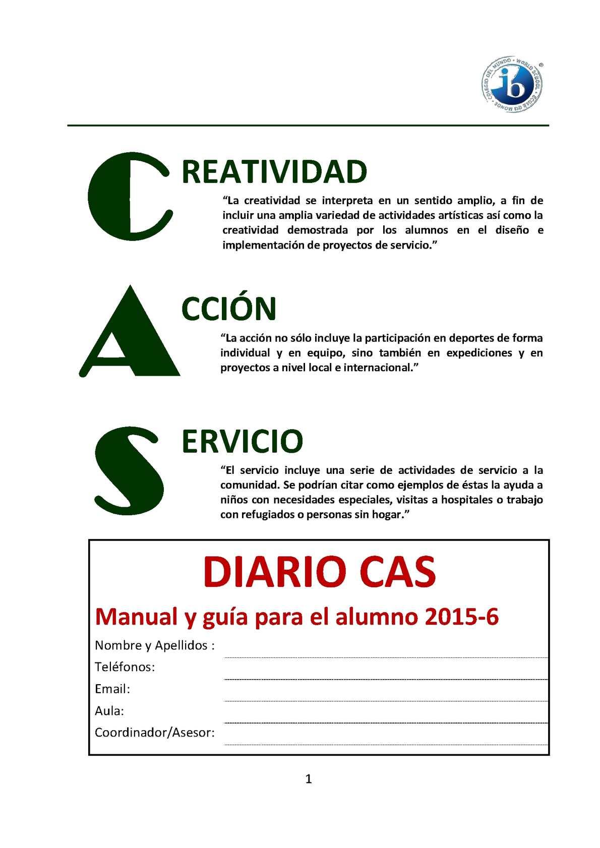 Formato Diario Cas 2015