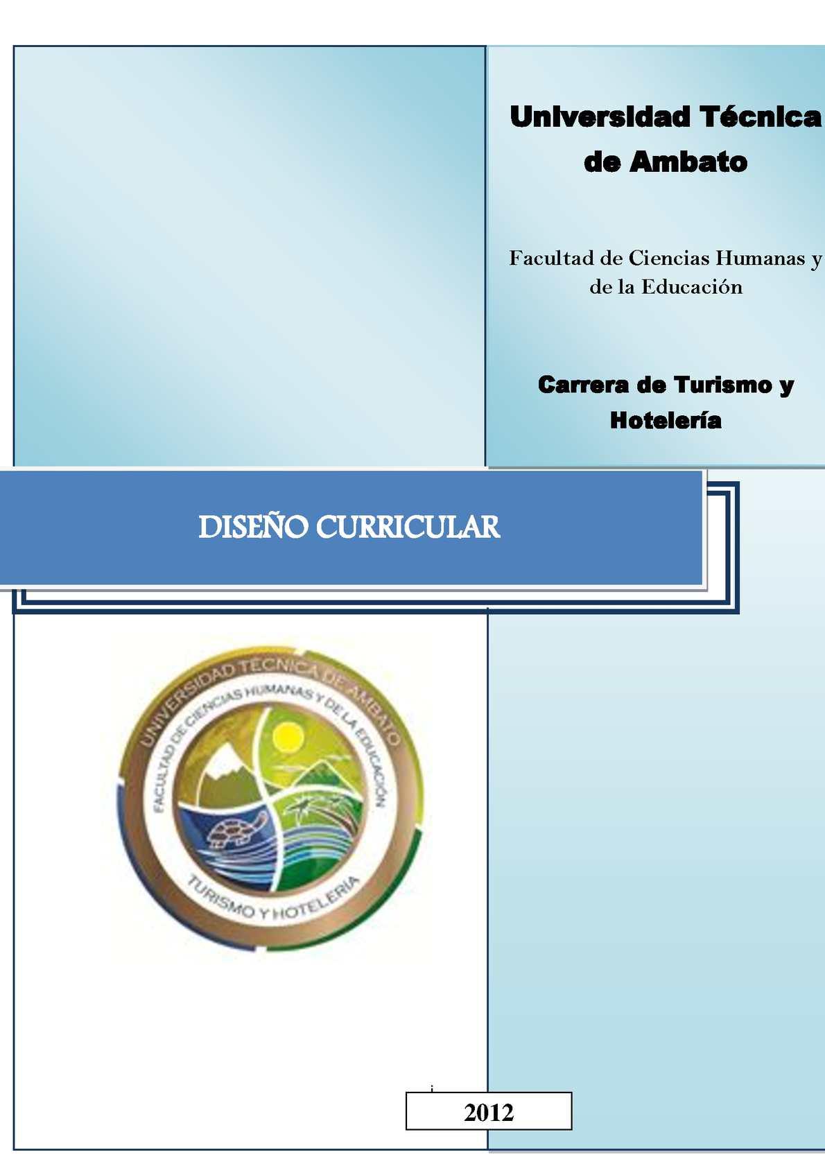 Calaméo - Diseño Curricular Th