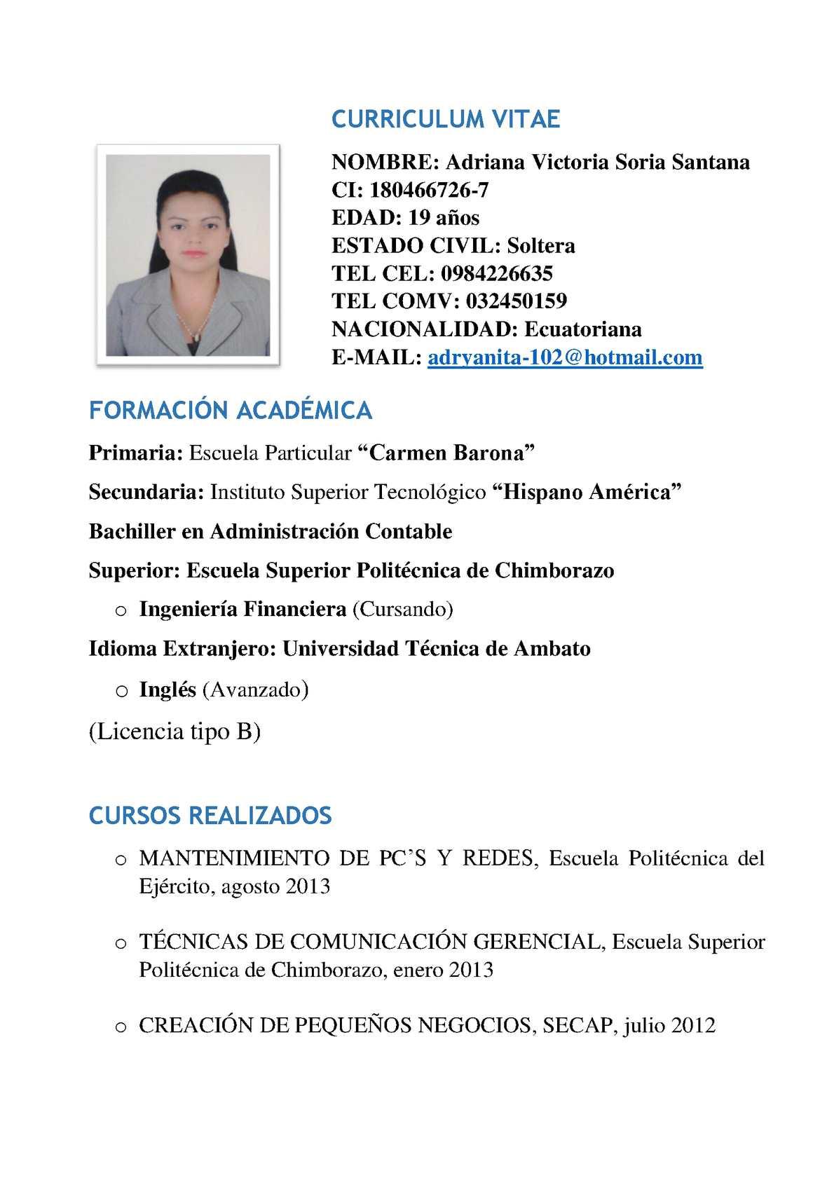 Calaméo - Hoja De Vida Adriana Soria(1)