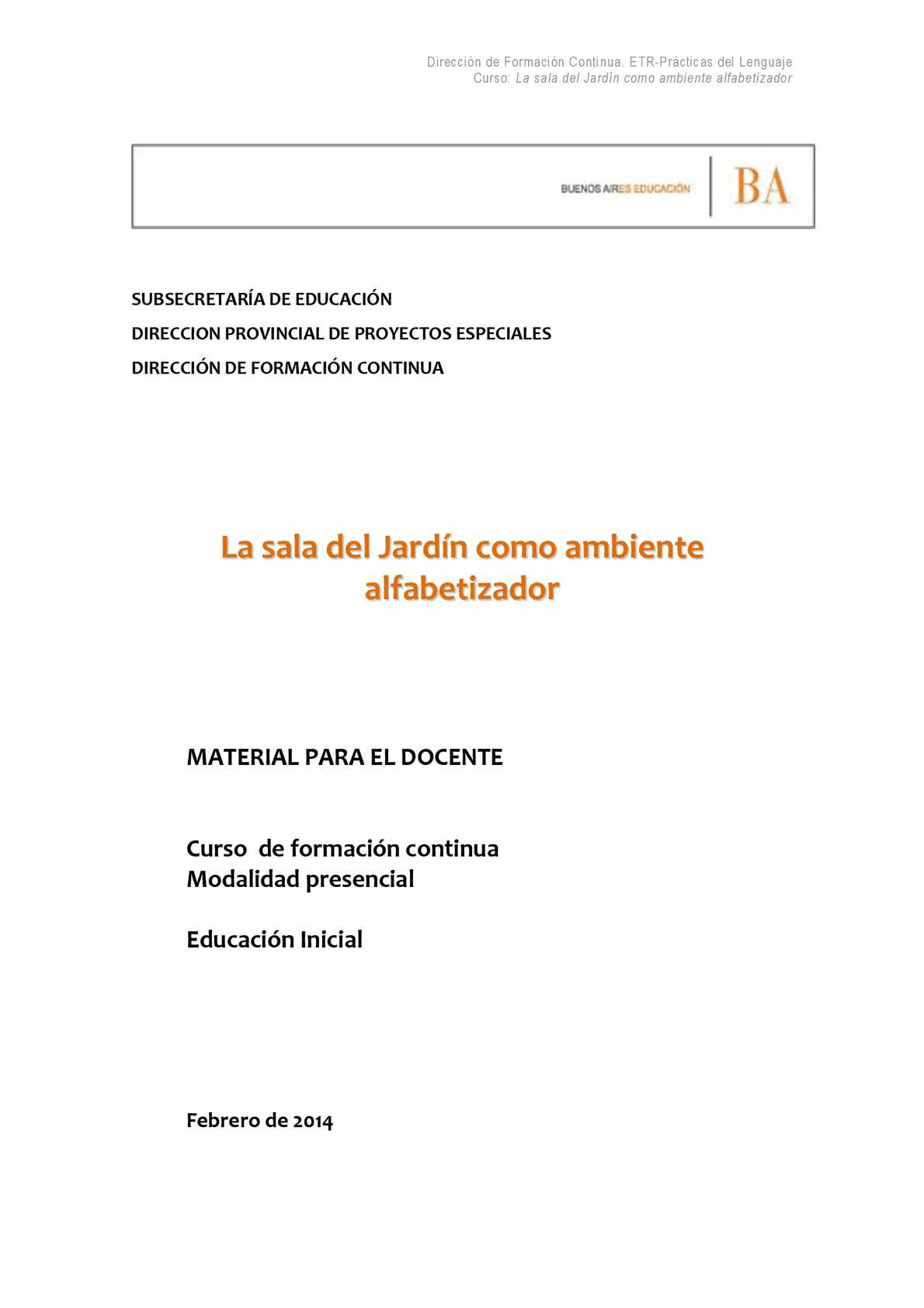 Calaméo - Material Para El Docente La Sala De Jardin Como Ambiente ...