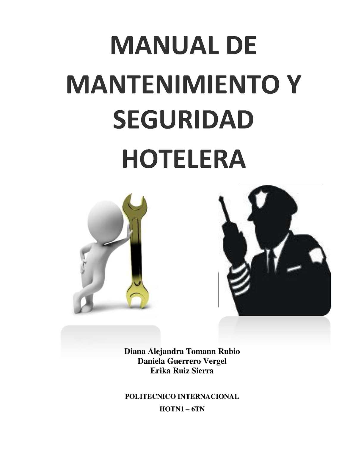 Calam o manual de mantenimiento y seguridad hotelera for Manual de procedimientos de cocina