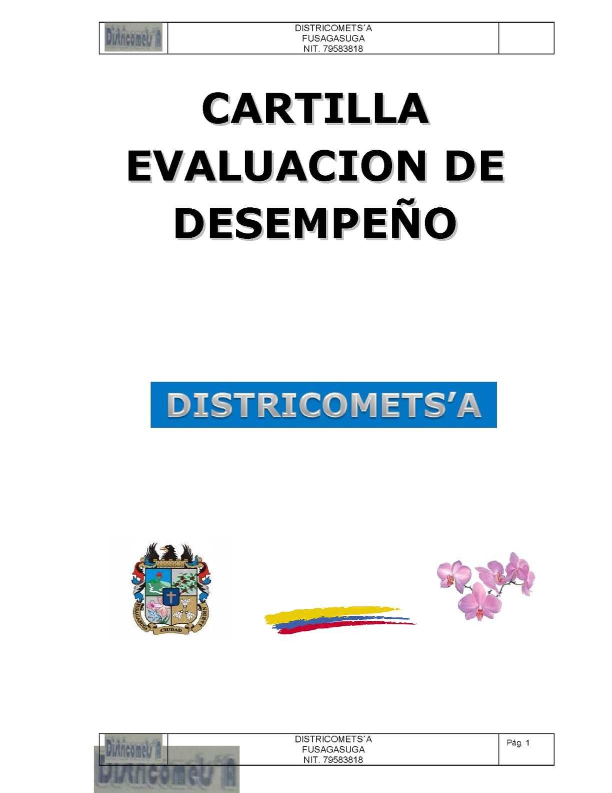 Calaméo - Cartilla Evaluacion De Desempeño