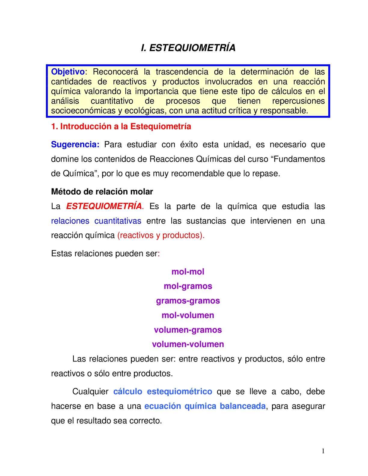 Calaméo - Guia Estequiometria