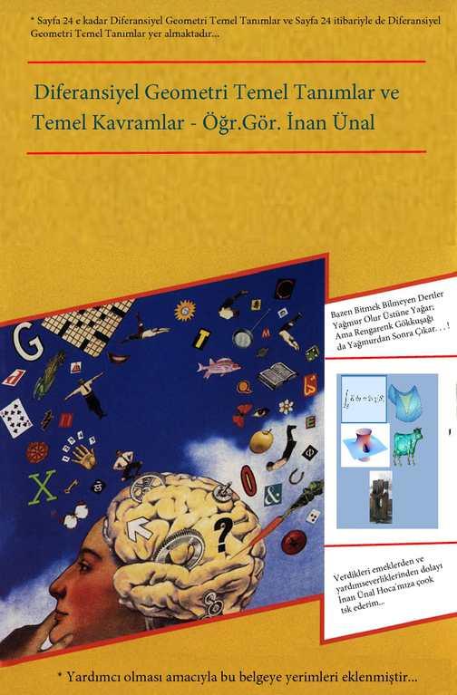 Diferansiyel Geometri Temel Tanımlar ve Kavramlar - Öğr.Gör. İnan Ünal
