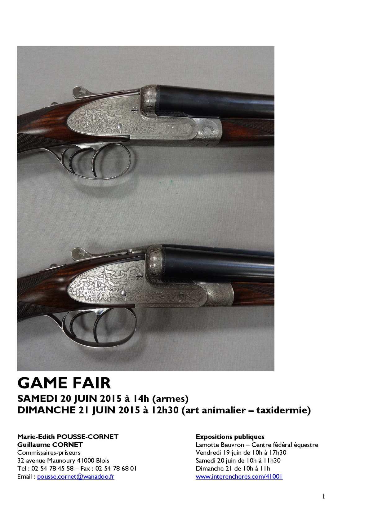 70ebb226c174a3 Calaméo - Enchères Game Fair 20 21 Juin 2015