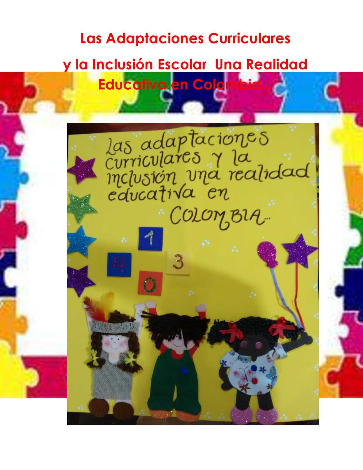 Cartilla Adaptaciones Curriculares Y La Inclusión Escolar Una Realidad En Colombia C A Manizales