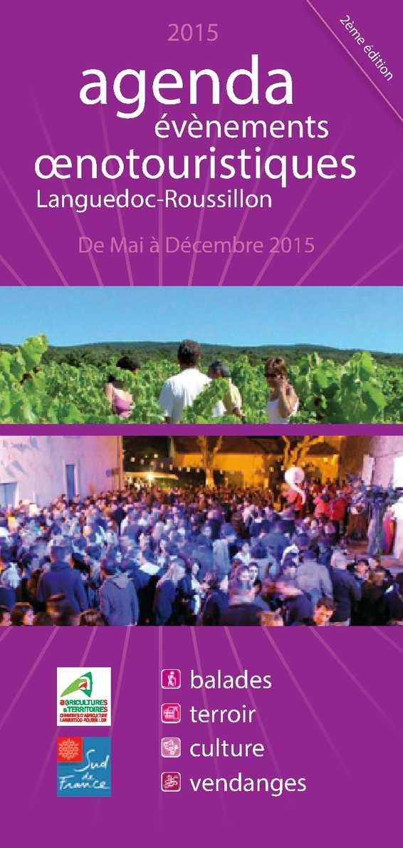Calam o agenda oenotourisme languedoc roussillon 2015 - Chambre agriculture languedoc roussillon ...