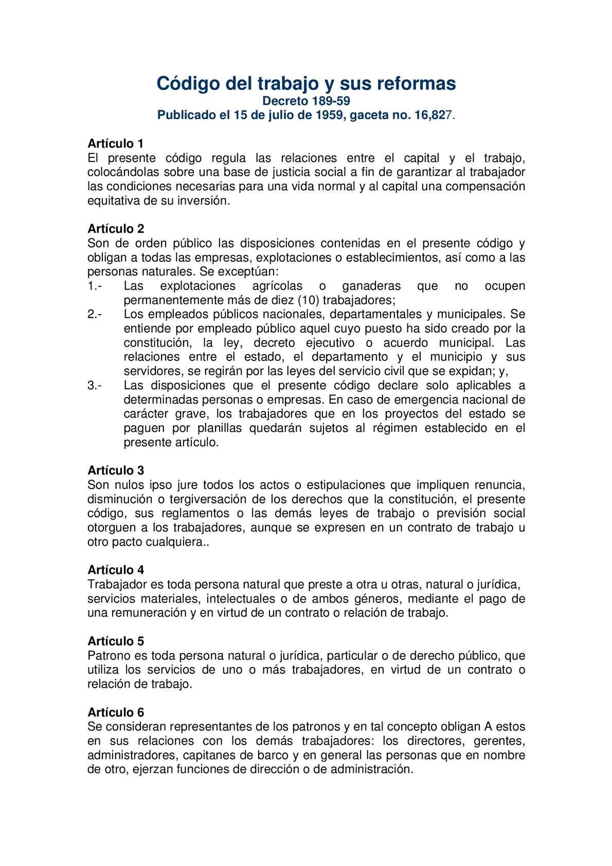 Calaméo - Código del trabajo y sus reformas