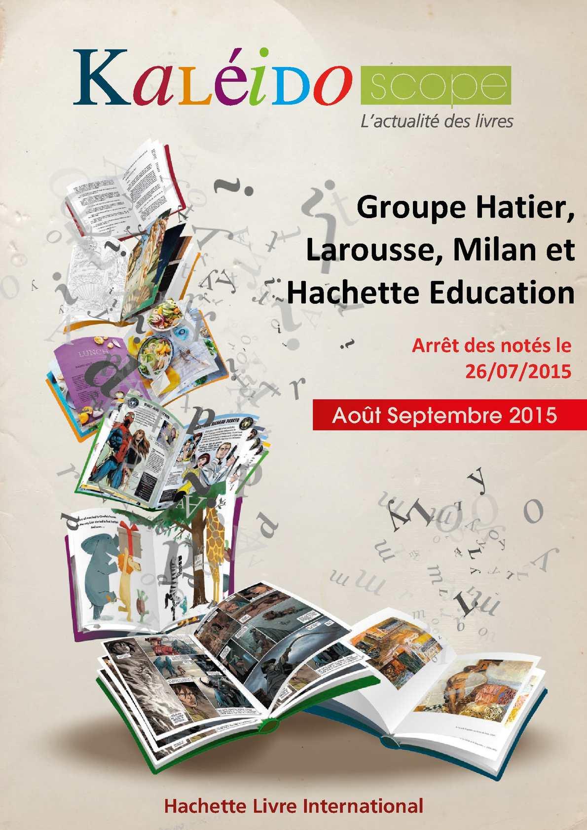 Salle De Bain Pluriel Larousse ~ Calam O Kaleidoscope Aout Septembre 2015 Hatier Larousse Milan