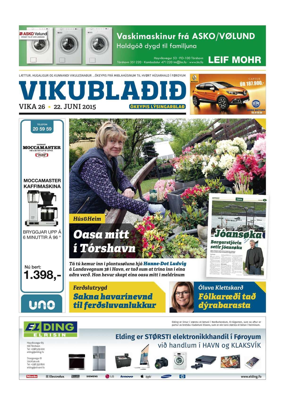 Vikublaðið 22. juni 2015