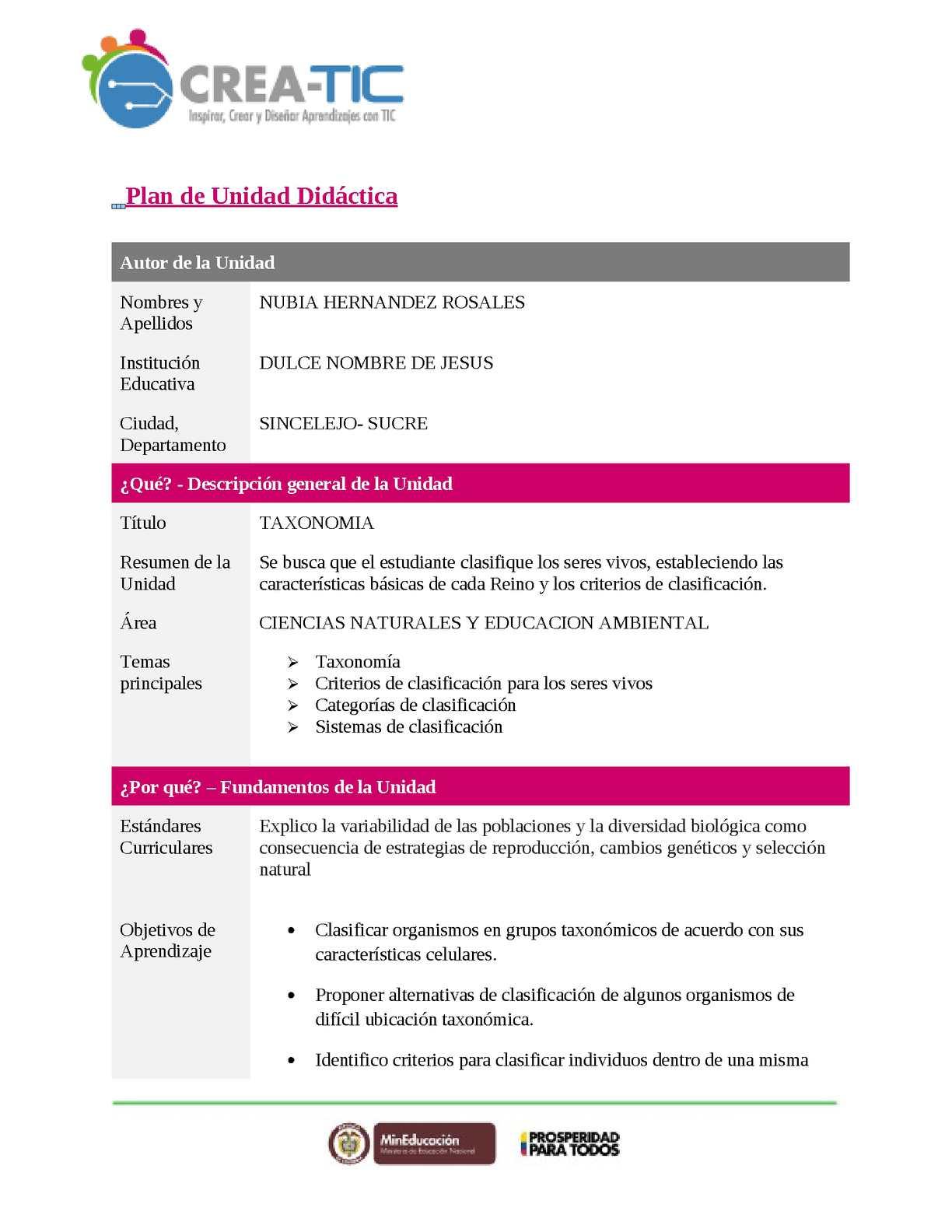 Calaméo - Plantilla Unidad Didactica Final