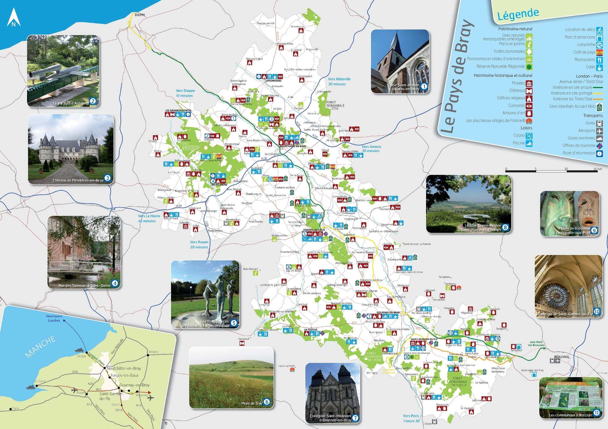 Calam o carte touristique du pays de bray - Office de tourisme sicile ...