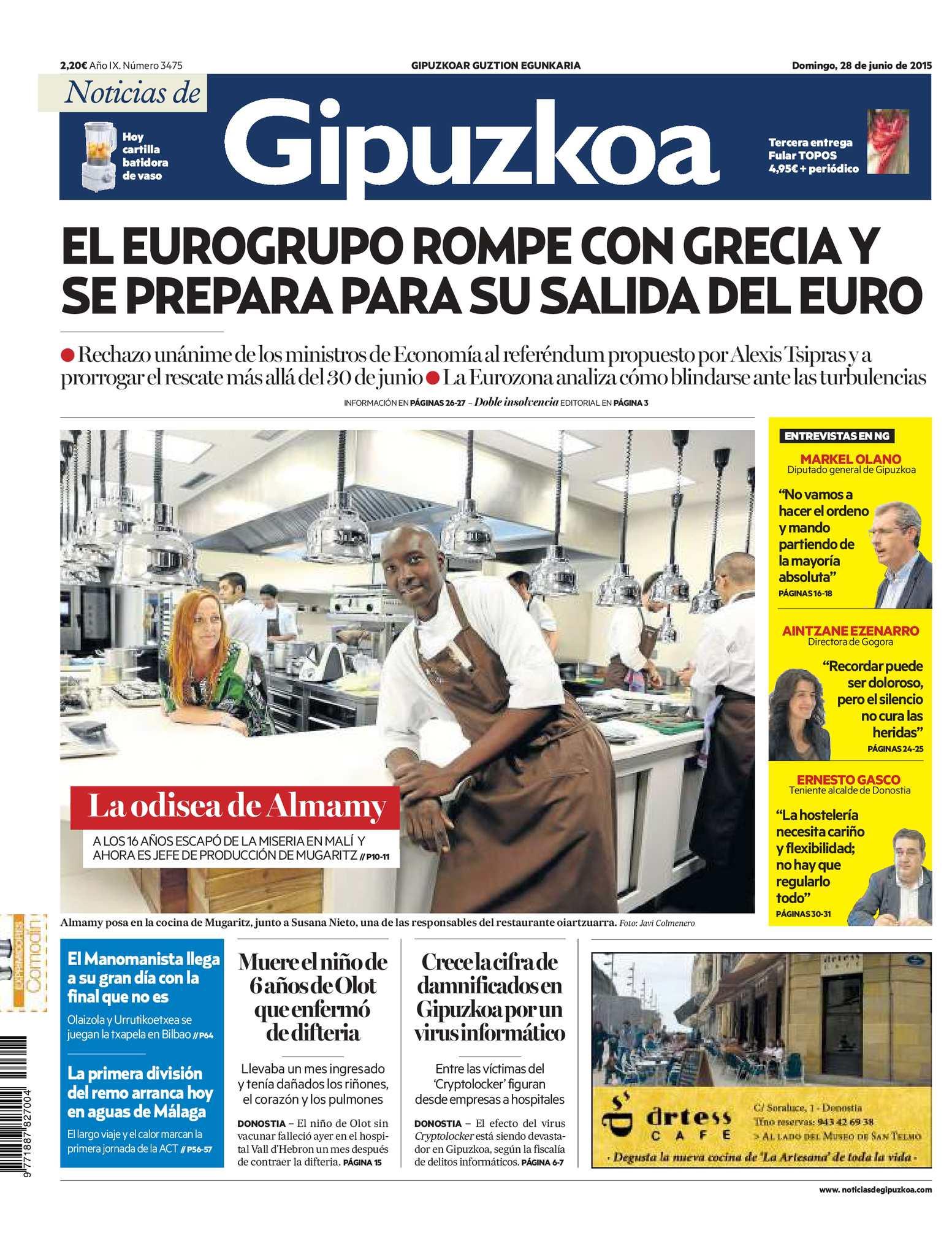 Calaméo - Noticias de Gipuzkoa 20150628