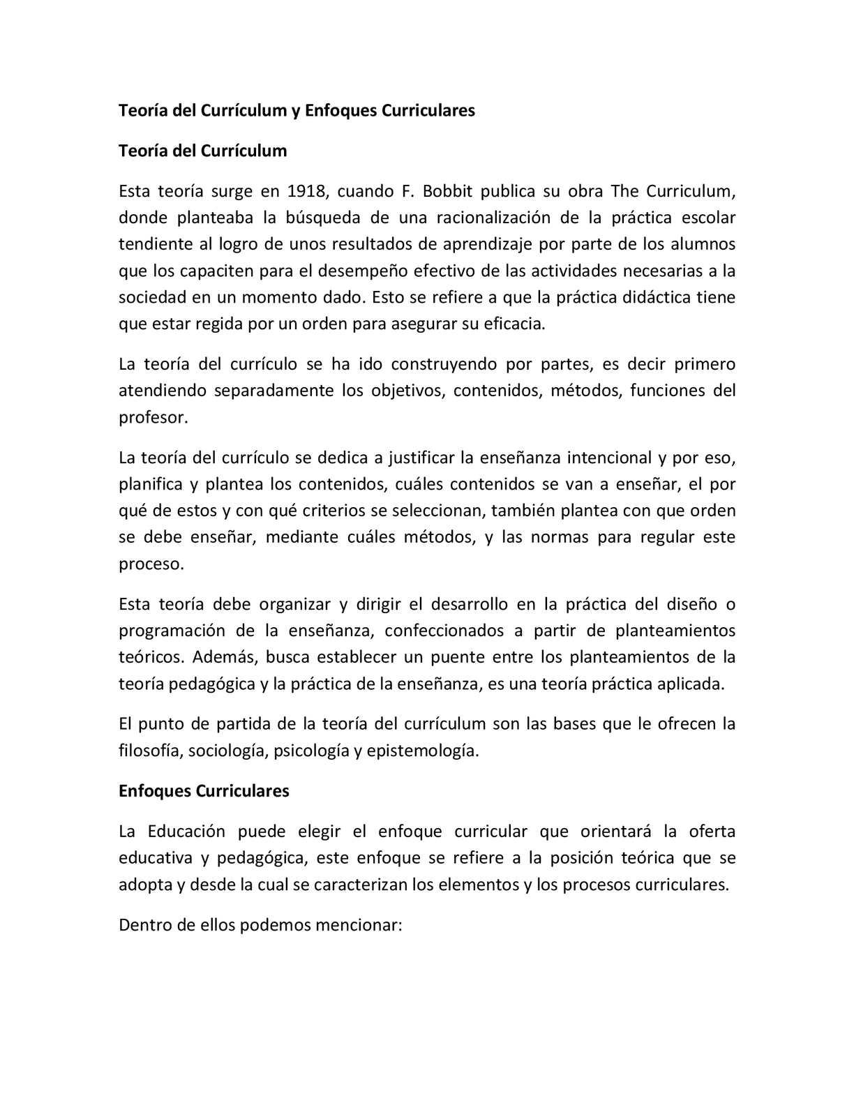 Calaméo - 3 Aleida D Teoría Del Currículum, Enfoques Curriculares ...
