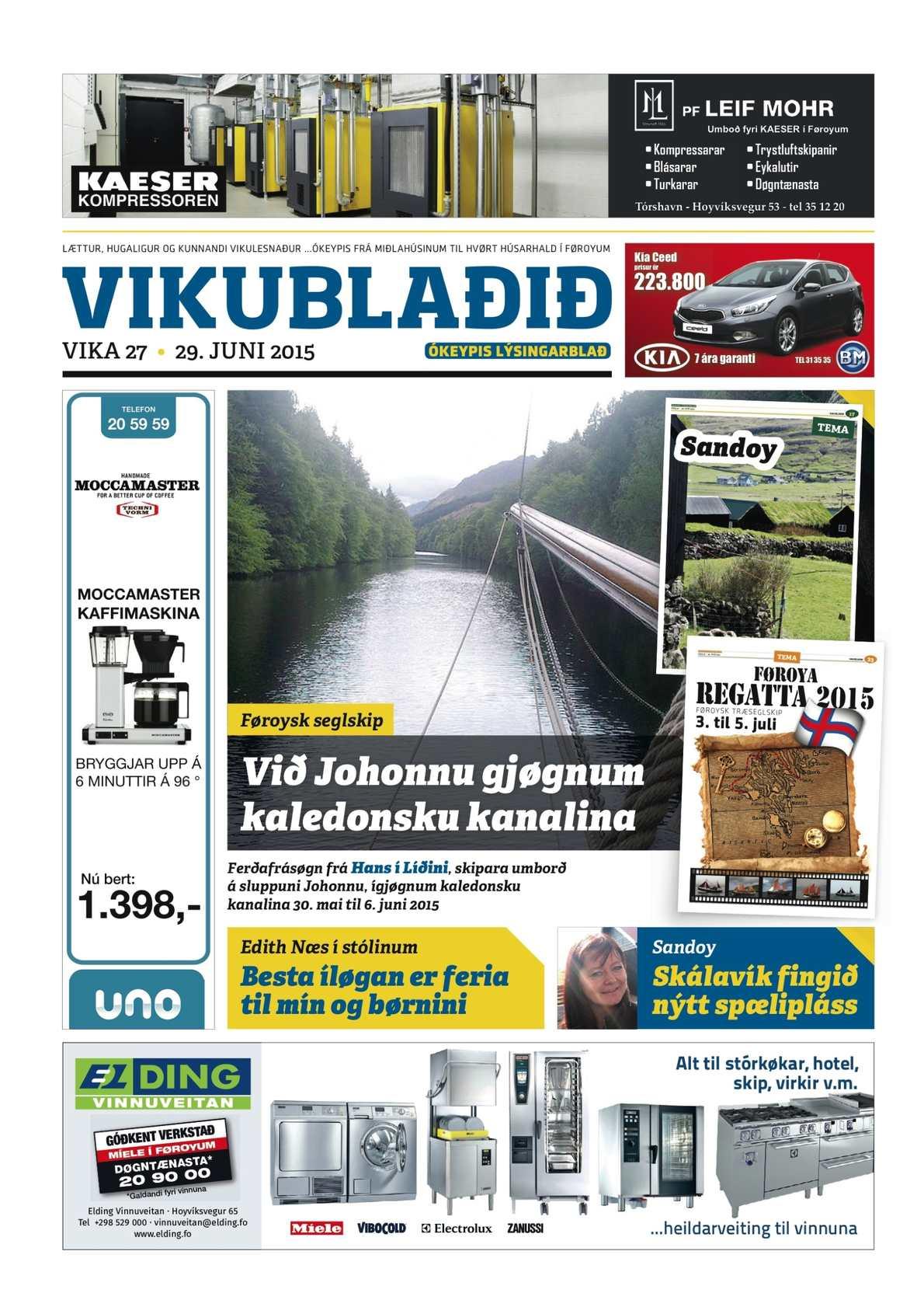 Vikublaðið 29. juni 2015