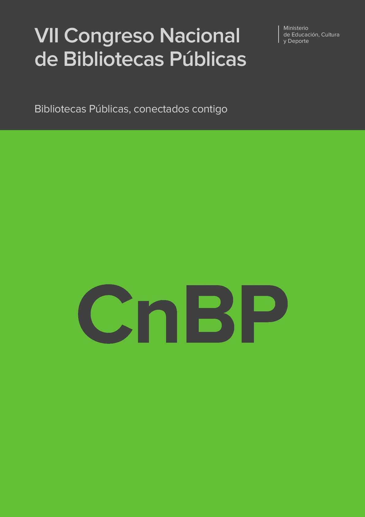 Calaméo - VII Congreso Nacional de Bibliotecas Públicas