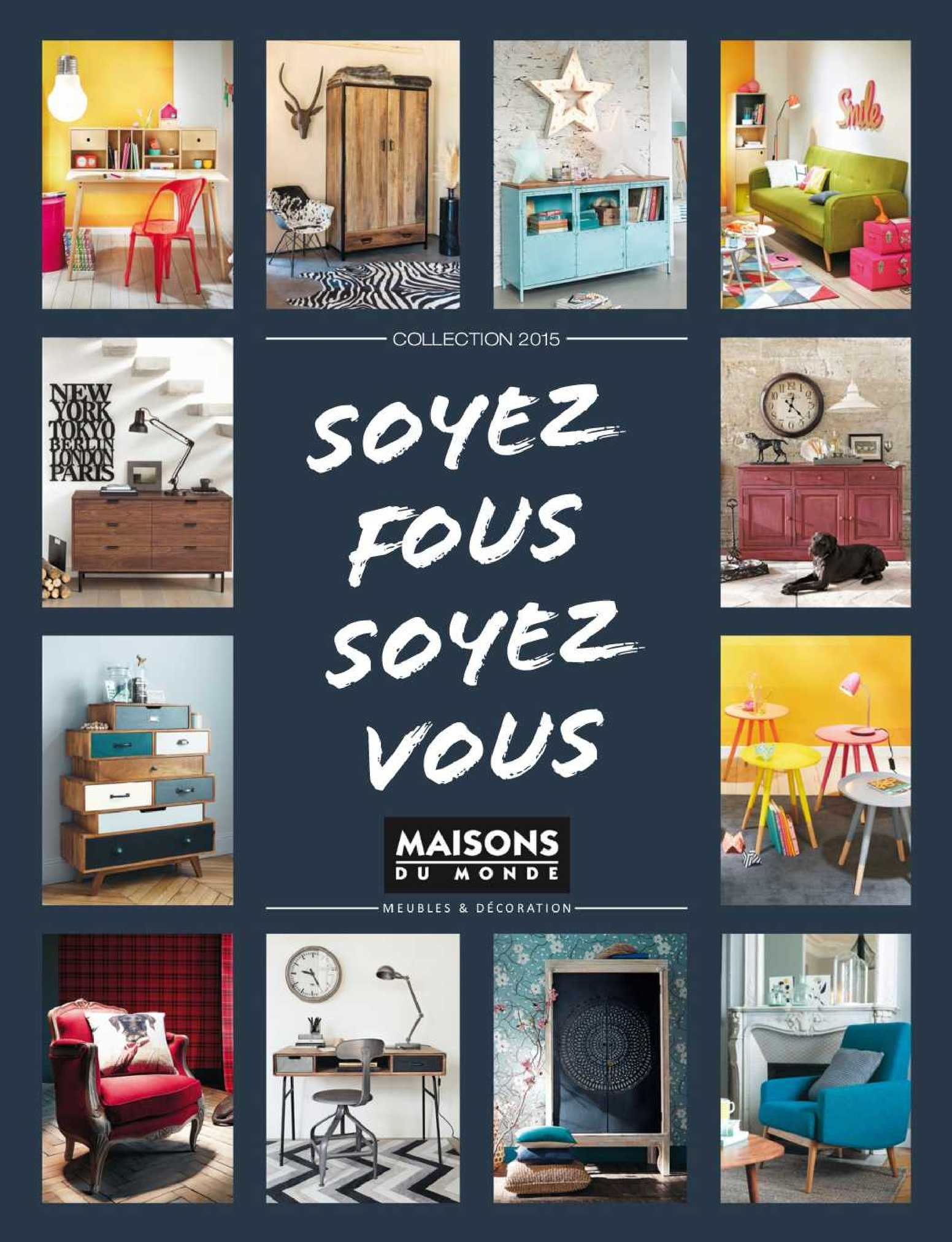 Calam o catalogo maisons du monde 2015 for Maison du monde waves
