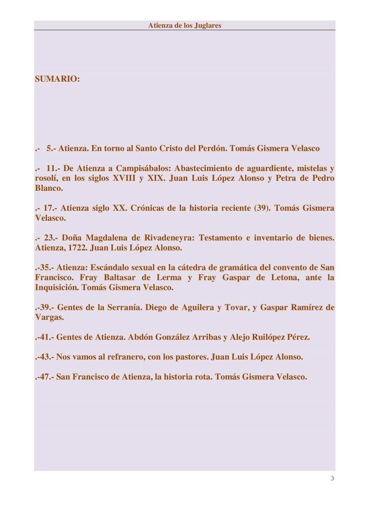 Atienza De Los Juglares Julio Agosto 2015 Calameo Downloader # Muebles Bernardo Leon