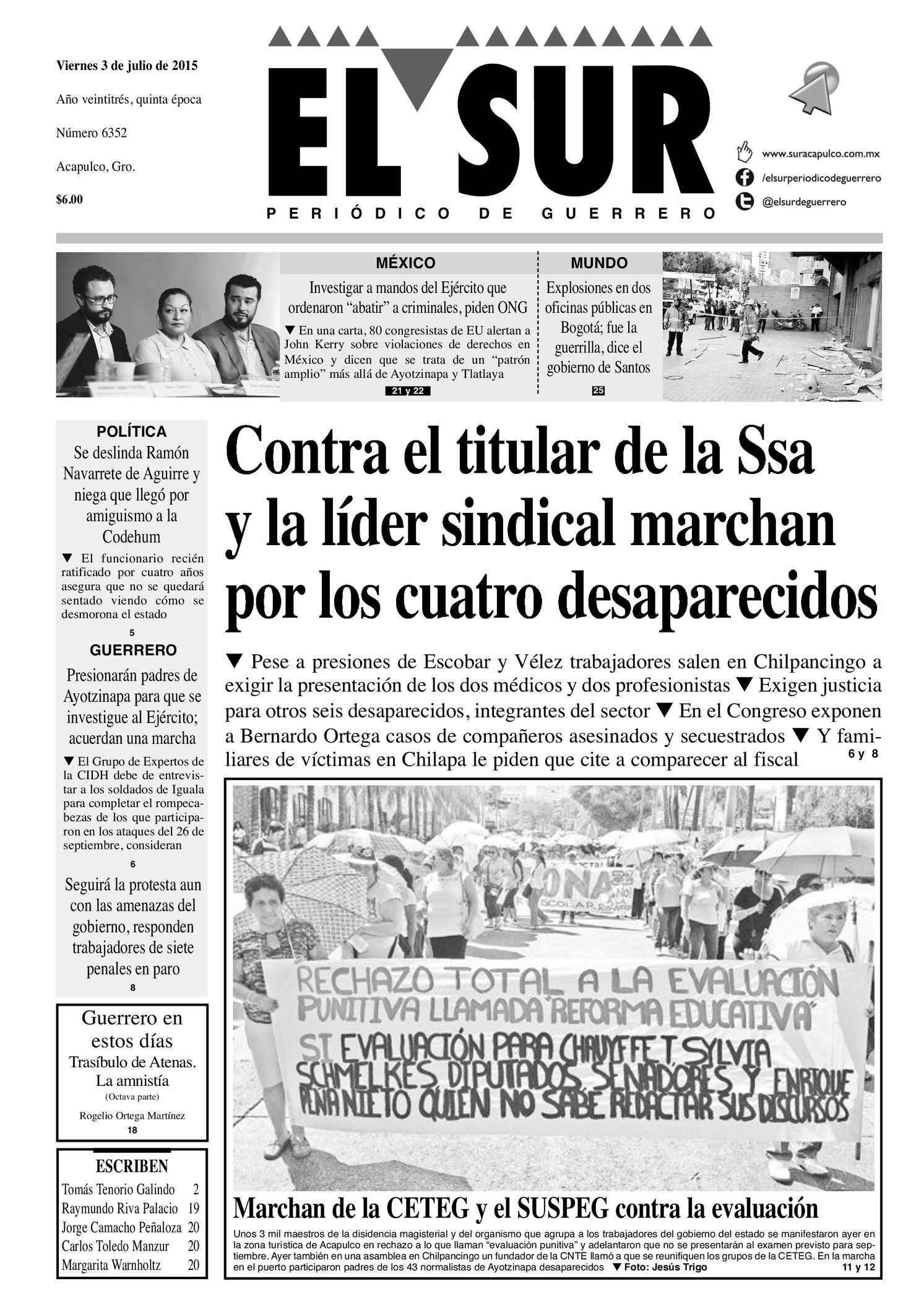 Calaméo - El Sur Viernes 03072015
