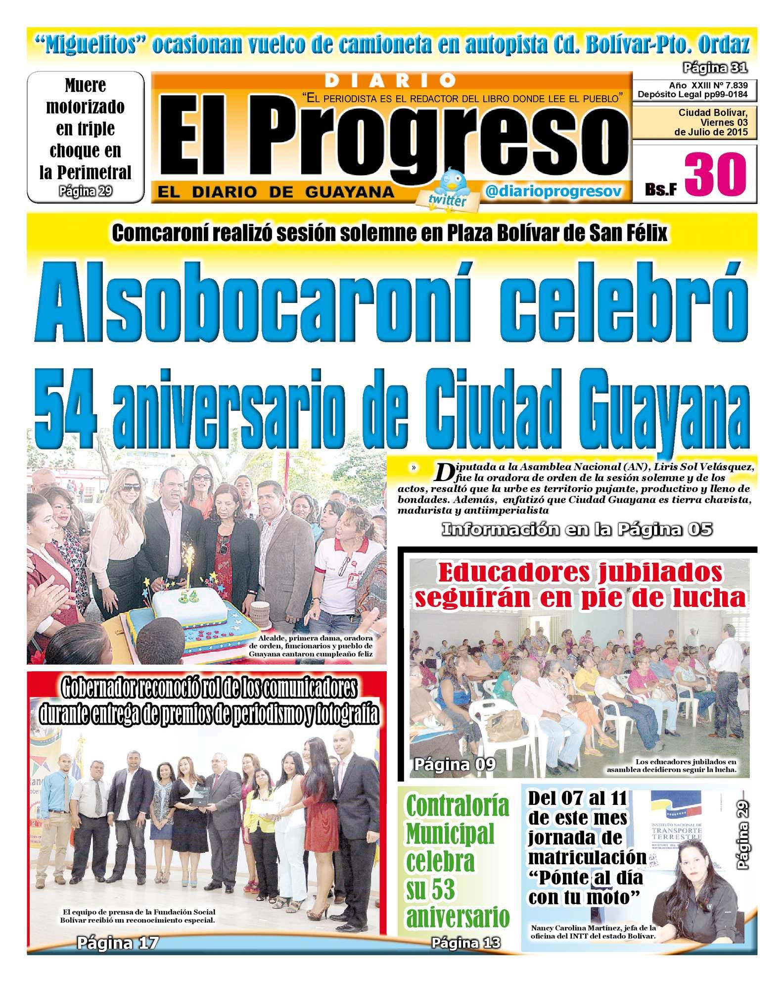 Calaméo - DiarioelprogresoEDICIÓNDIGITAL 03-07-2015