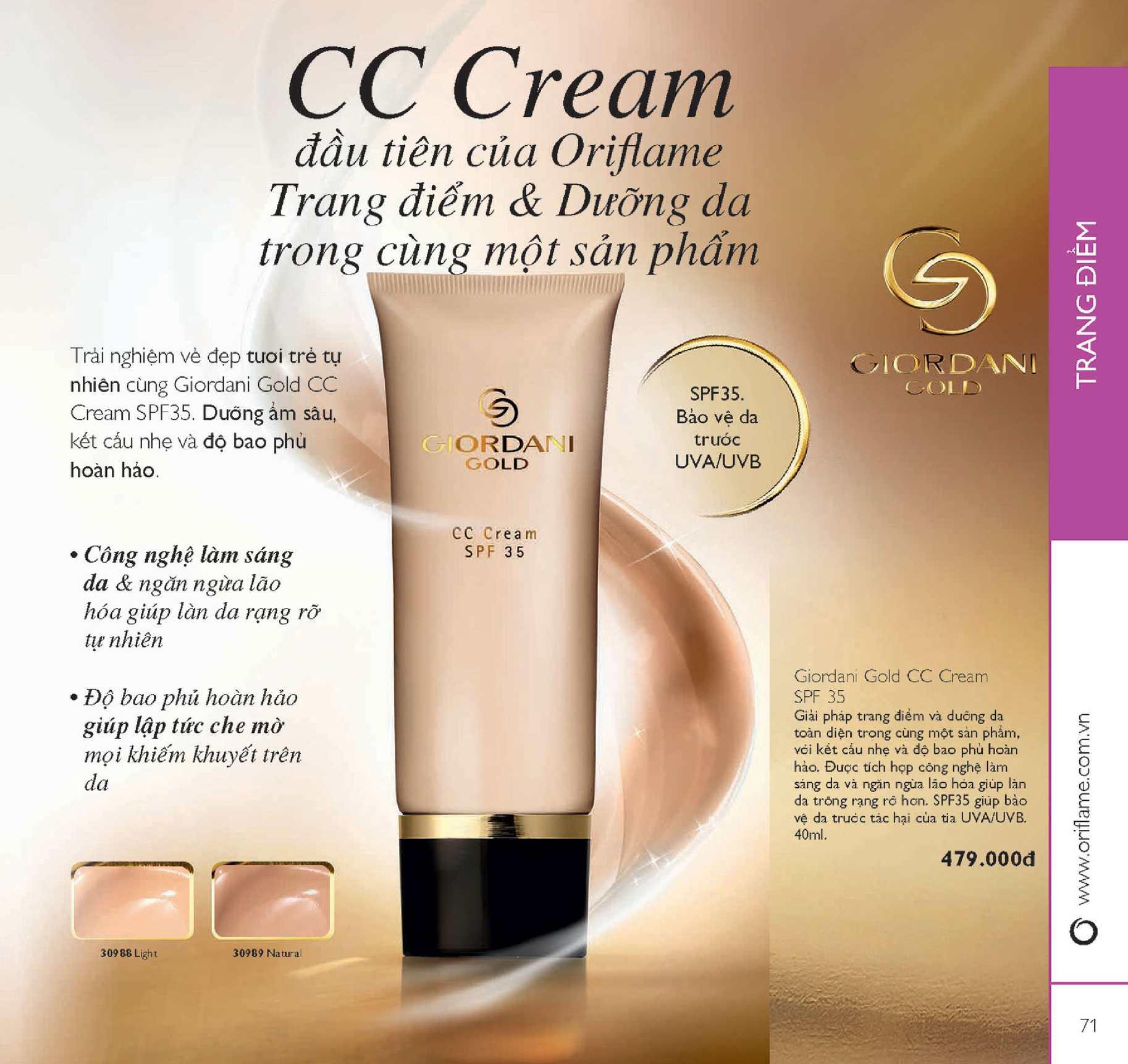Catalogue My Pham Oriflame 7 2015 Calameo Downloader Giordani Gold Cc Cream Spf 35 Page 71