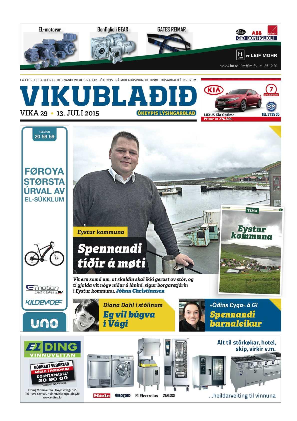 Vikublaðið 13. juli 2015