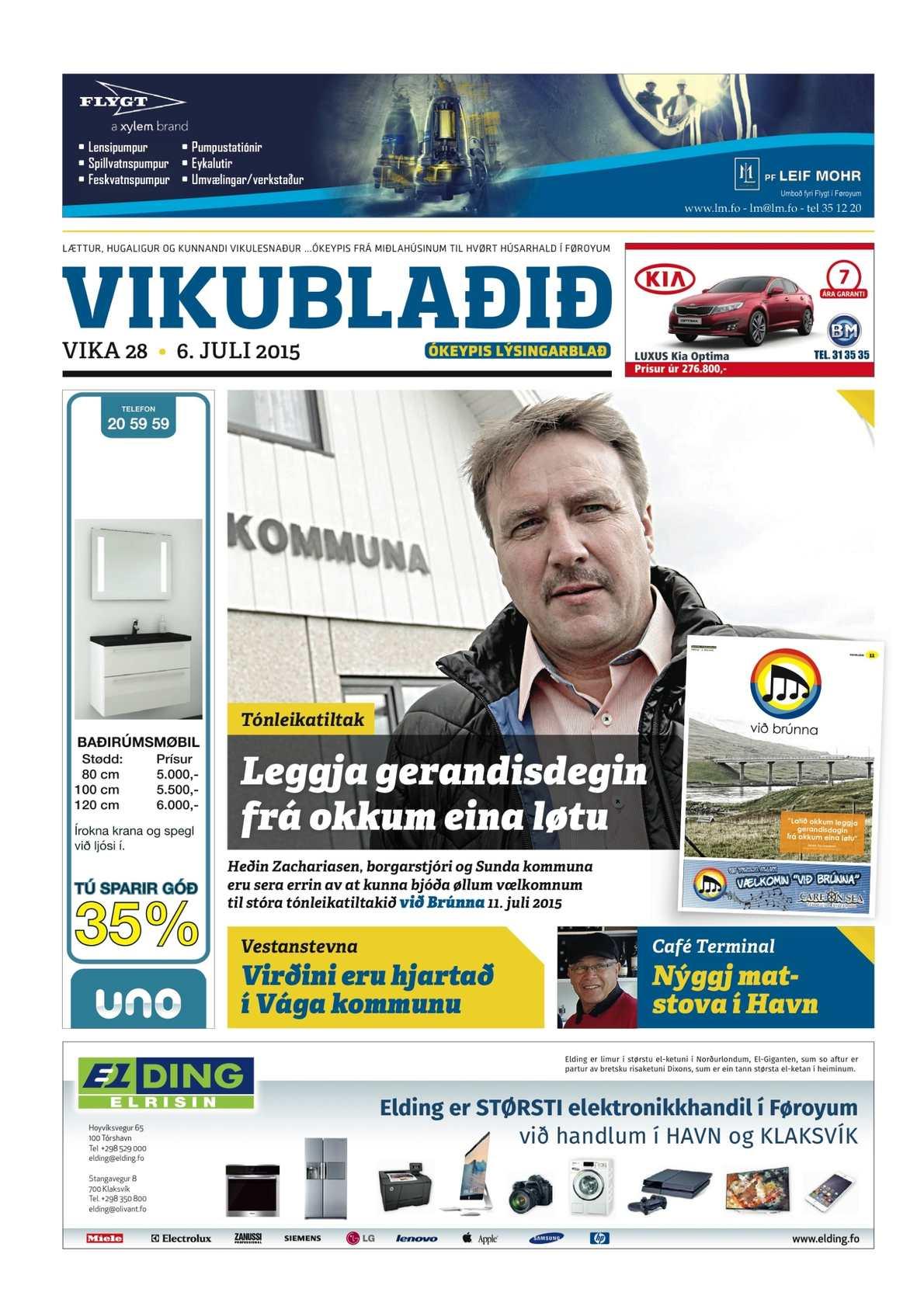 Vikublaðið 6. juli 2015