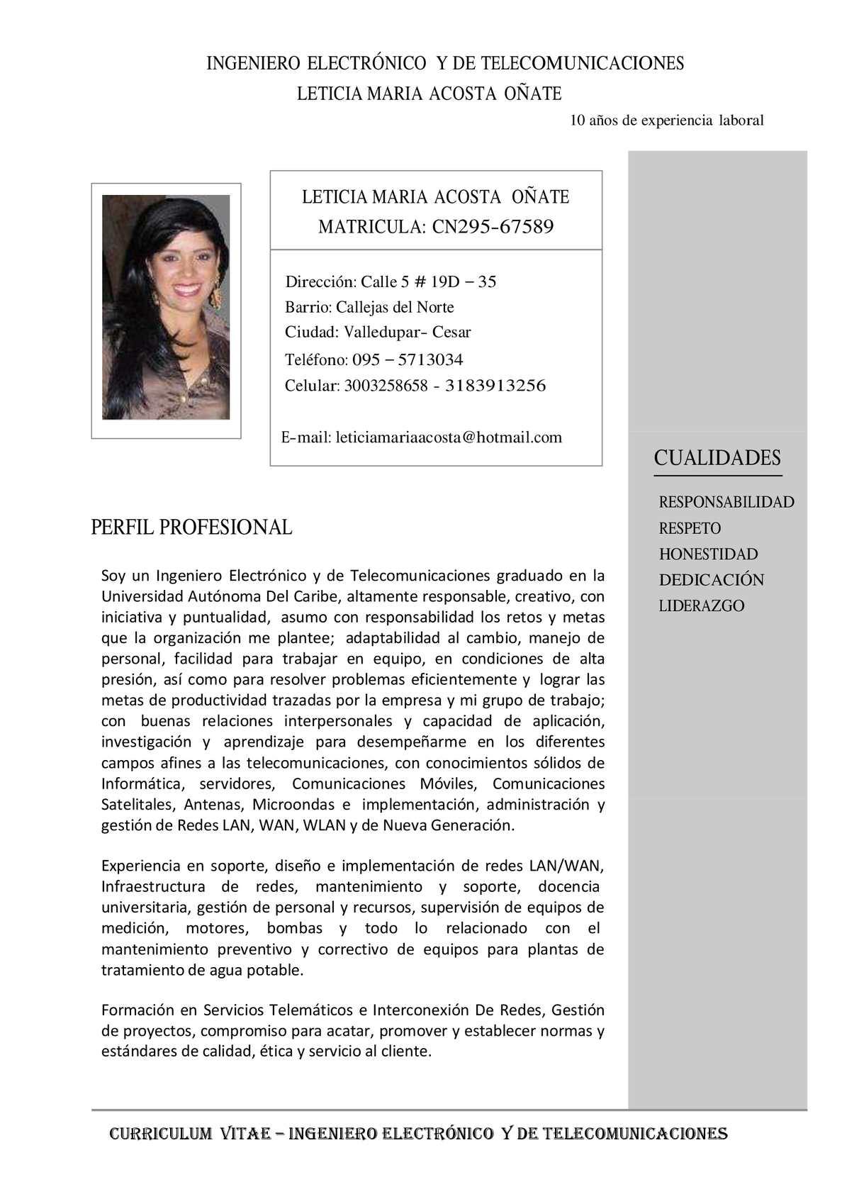 Calaméo - Hoja De Vida Leticia Acosta